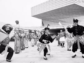 晋城文化艺术周在太原美术馆开幕 八音会激情澎湃