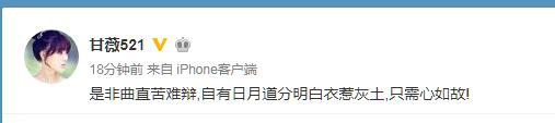 """贾跃亭妻子微博""""喊冤"""":是非难辩 心如故"""