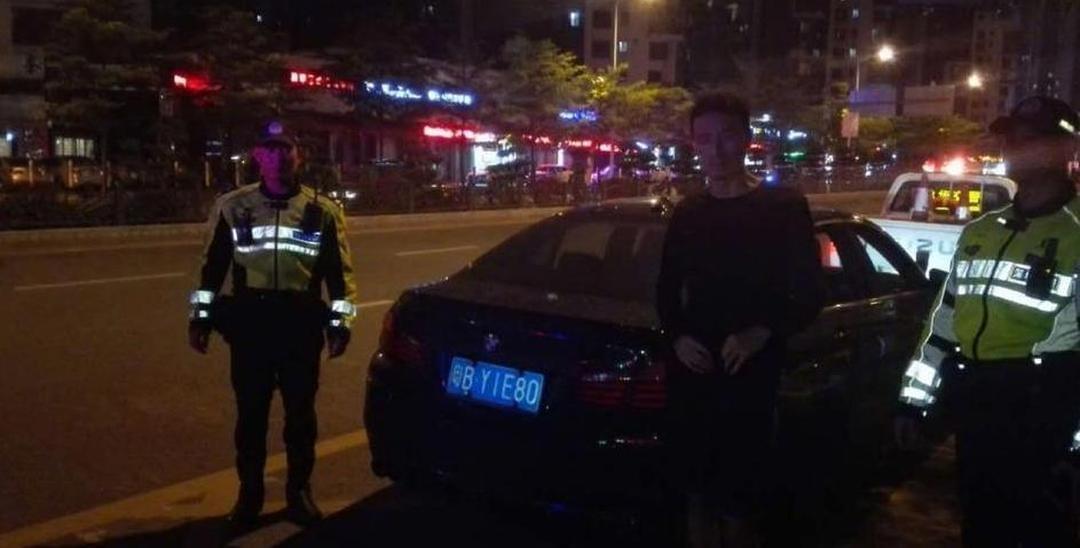 龙华一宝马深夜狂飚 却遇见深圳交警