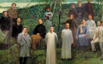 油画作品《国美春秋——清明》欣赏