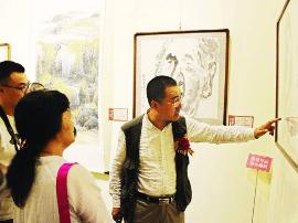 """山西24位教育名家百余幅作品绘""""国色丹青"""""""