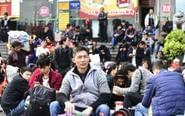 广州火车站迎春运高峰