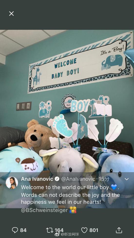 伊万诺维奇晒婴儿房宣布产子 与小猪组三口之家