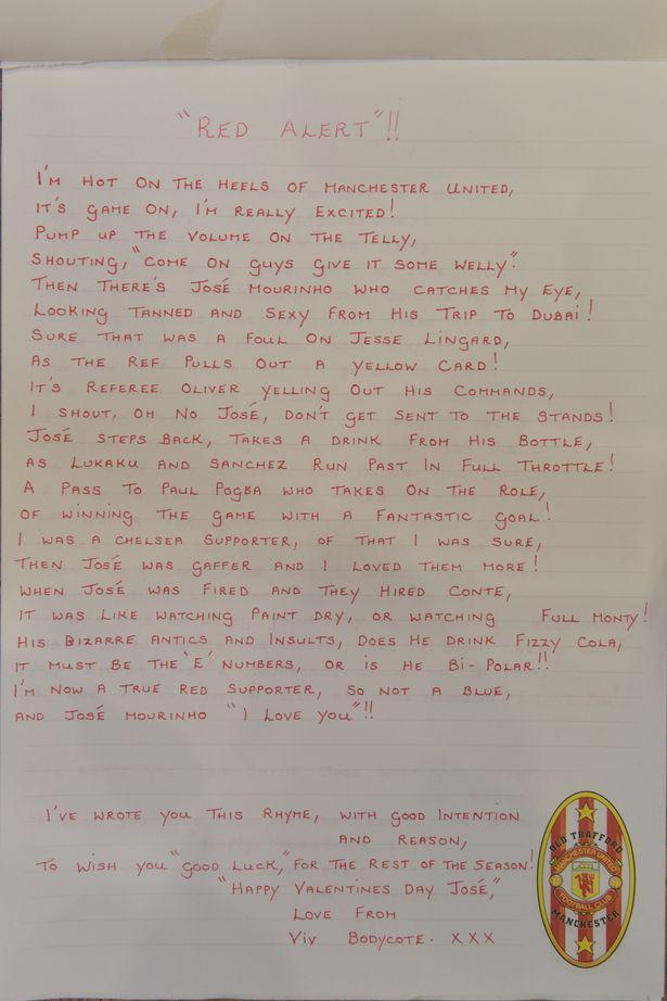 薇薇安还为穆里尼奥写诗