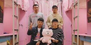 4名大学理工科男生将寝室装扮成粉红色海洋