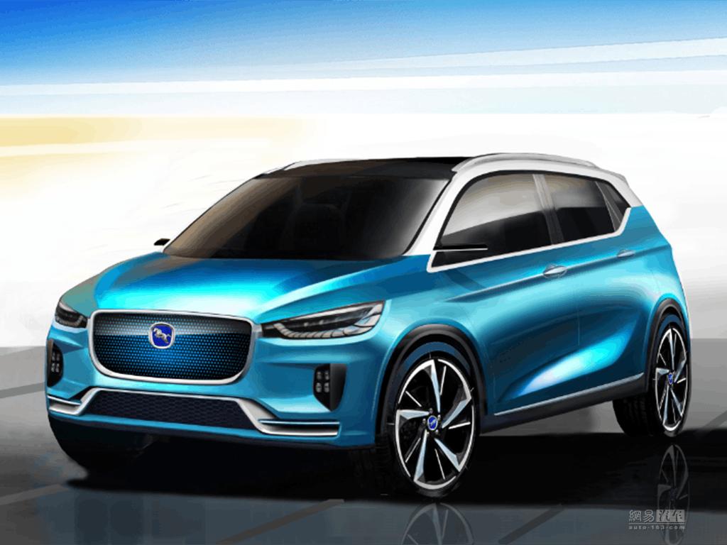 将于上海车展首发 汉腾EV概念车设计图