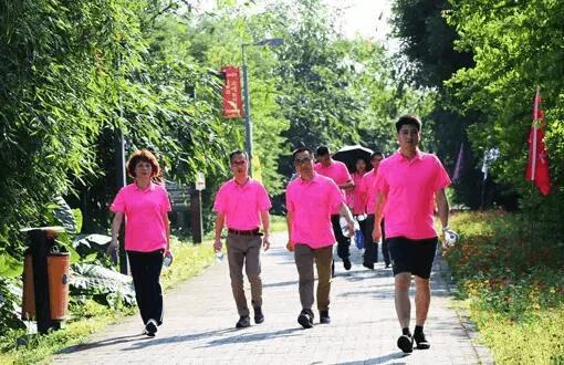 2017龙文区职工健步活动在西溪亲水公园举行