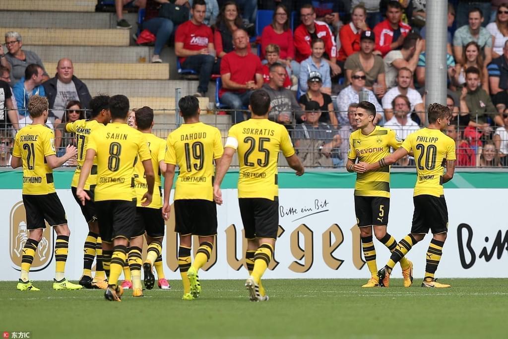 德国杯-奥巴梅扬帽子戏法 多特蒙德4-0大胜晋级