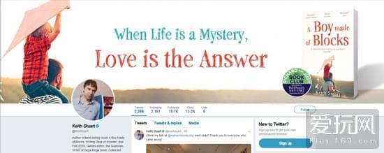 斯图尔特的微博封面有着这样一句话:当生命成为谜题,唯有爱才是谜底