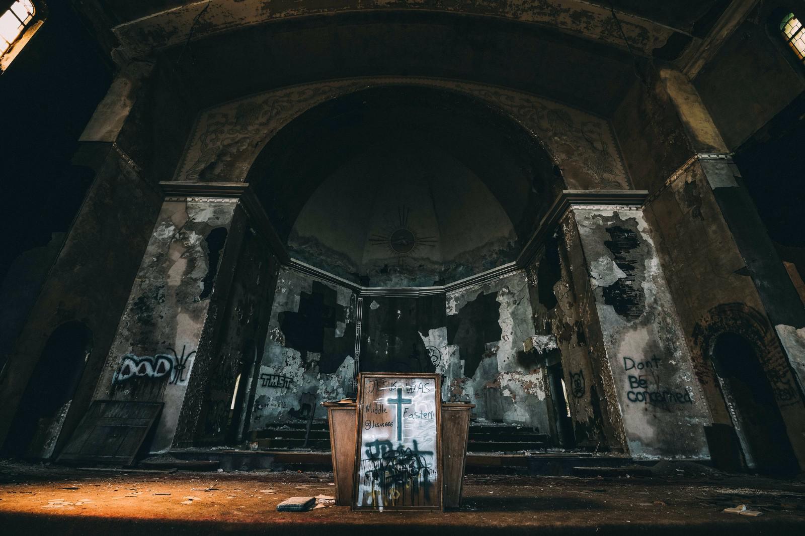 破旧的教堂
