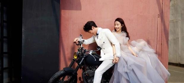 赵丽颖林更新拍婚纱写真 二人甜蜜互动CP感
