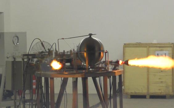 零壹空间 中国商用火箭液体姿控发动机整机试车成功