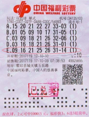这也行?安徽彩民重打往期彩票 中双色球667万大奖