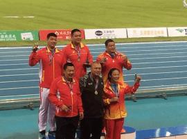 石家庄田子重荣获全运会男子铅球冠军