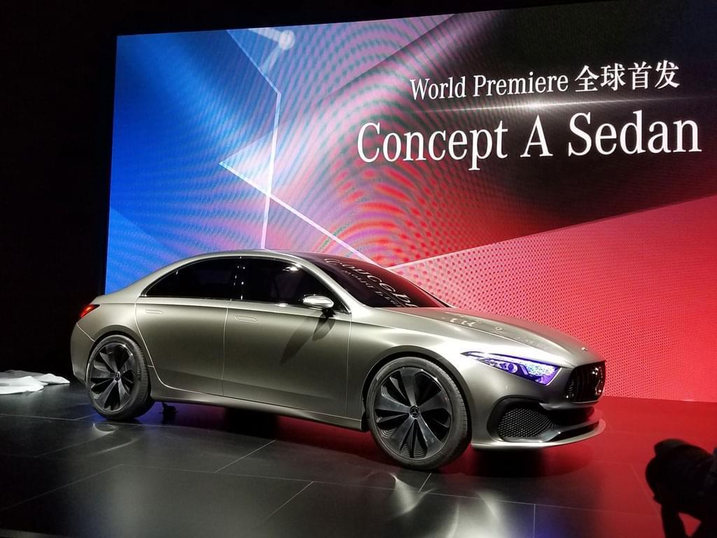 1系三厢我来了 奔驰Concept A Sedan首发