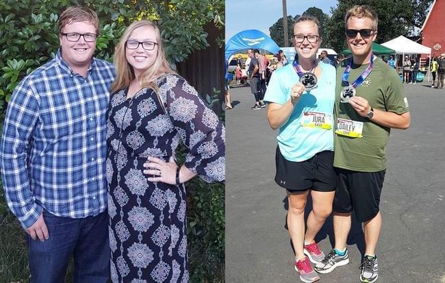 情侣跑7个月合减168斤 蜜月期备战全马