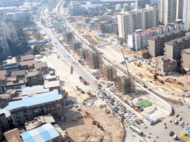洪都大道快速化改造工程2个月后架梁 2019年通车