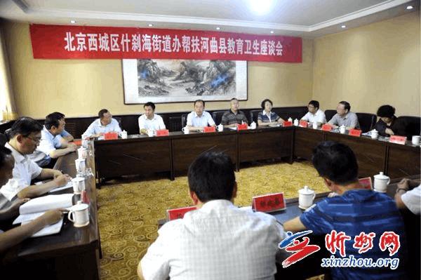 北京什刹海街道办领导到河曲洽谈教育卫生合作事项