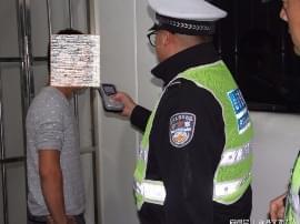 绛县交警查处一起酒驾违法行为