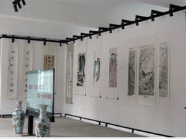 清美七人书画展在河津市展出