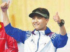 全运会男子10米气手枪比赛 山西队王智伟收获银牌