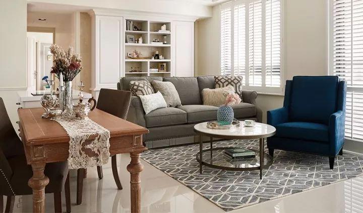 70平也能设计出美式风格 优雅温柔配色出彩