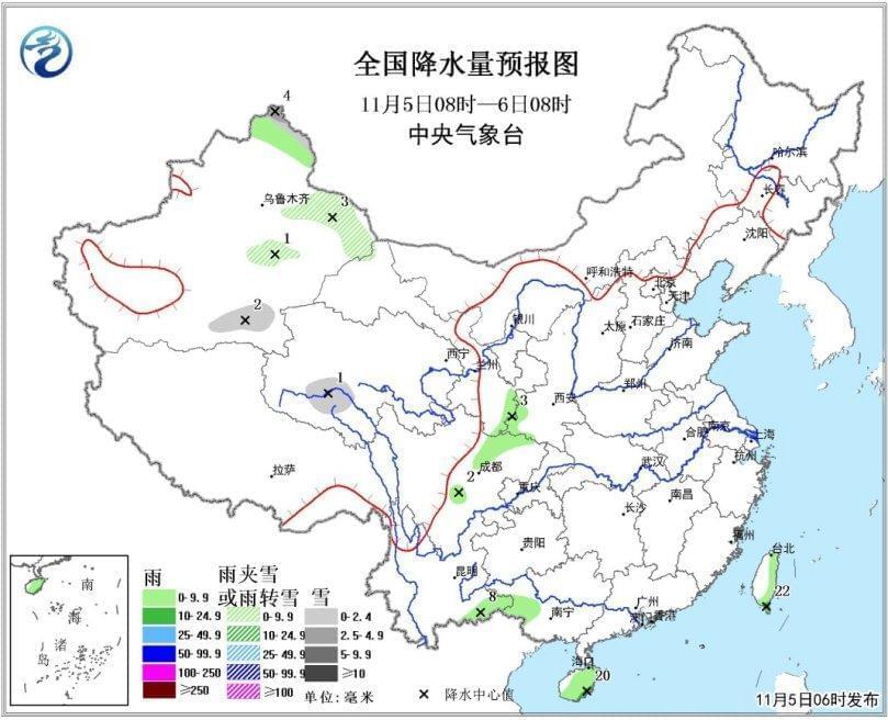 冷空气影响北方地区 华北东北局地降温可达8