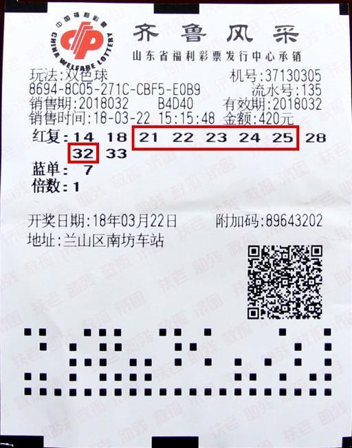 蓝球移位奖金缩980万 男子一号之差获185211元