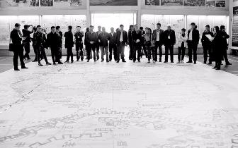 山西文旅大地图亮相 长14米 宽8米