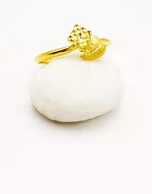 清新脱俗的叶片设计 承载着幸福的戒指