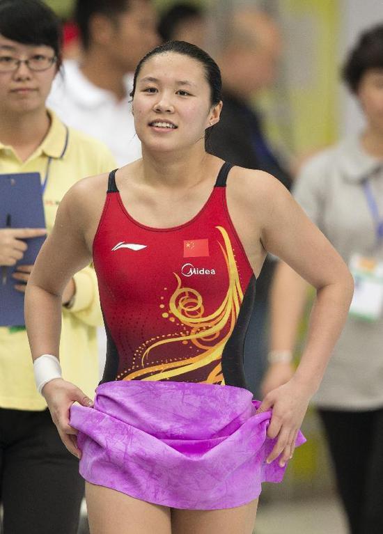 跳水女单三米板半决赛 施廷懋王涵占据前二过关