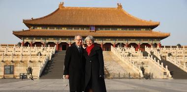 英国首相特蕾莎·梅访华 偕丈夫参观故宫