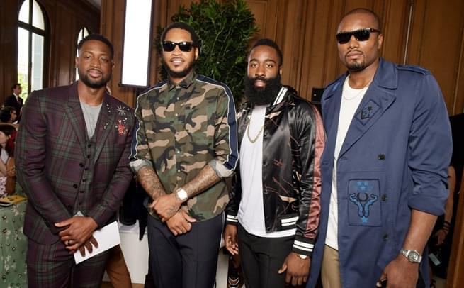 NBA球星参加巴黎时装周 谁最潮?
