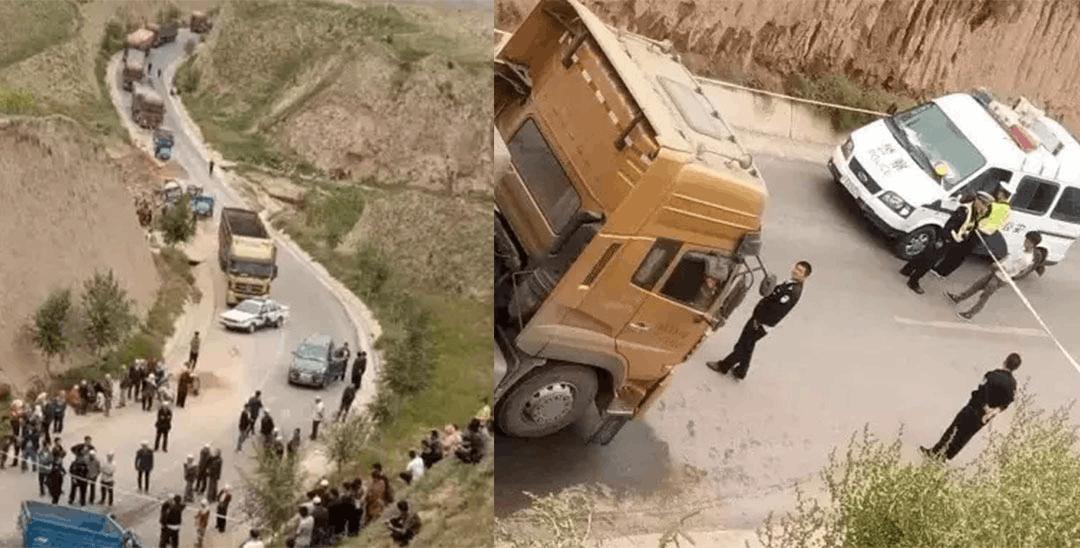 事发海原:大货车与三轮车相撞致两死一伤