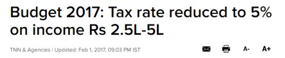 刚刚2000万印度人的个税降低了50%!