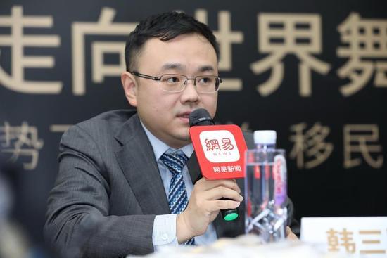 教育部留学服务中心国际合作处副处长韩三军先生