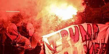 瑞士示威者抗议特朗普出席达沃斯论坛