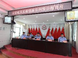 两项整治万荣交警大组织观看反腐倡廉教育片
