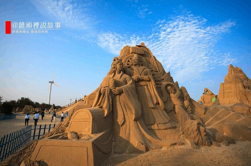 第四届映像丝路沙雕艺术节在漳浦六鳌翡翠湾开幕