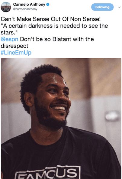 甜瓜被ESPN排第64超愤怒:不尊重我 仍是自己球迷