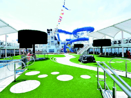 亚洲最大邮轮在青岛港开启全球首航 长334米