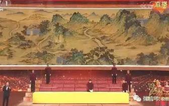 """""""国宝""""现身肥乡 现代藏绒版《丝路山水地图》"""