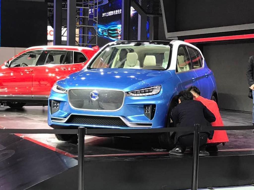 2017上海车展探馆:汉腾纯电动SUV概念车