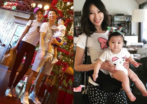 隋棠与老公儿子摆拍变长腿星人 女儿这样出镜