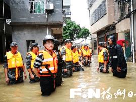 长乐江田全力抗灾抢险 6小时转移危险区域450余人