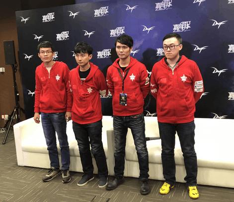 DNF2017F1天王赛中国队采访 抽签内战十分遗憾