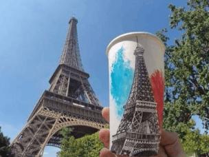 环游世界 把美景都画在了咖啡杯上