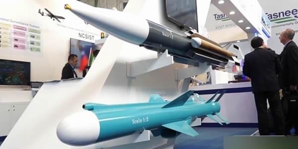 组图:中东防展上台湾叫卖雄风3导弹