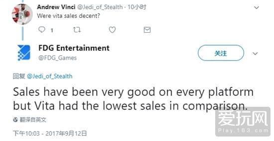 游戏发行商FDG回应PSV版销量最差