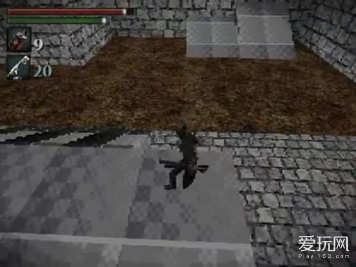 牛人自制《血源》PS1版游戏 马赛克猎人画风感人